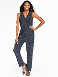 Circle-Print Jumpsuit