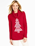 Holiday Evergreen Cowlneck Sweater