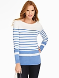 Blocked-Stripe Sweater