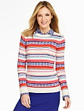 Stripe Fair Isle Sweater