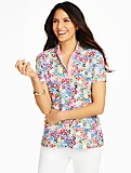 The Classic Polo Shirt - Dainty Flowers Print