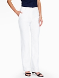 Talbots Windsor Pant - Curvy/Madison Linen/White