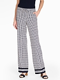 Diagonal Dashes Wide-Leg Pant