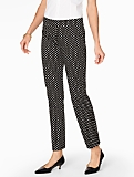 Talbots Chatham Ankle Pant-Spring Dots
