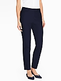 Talbots Hampshire Ankle Pant- Curvy/Double Weave