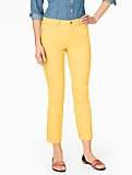 The Flawless Five-Pocket Crop - Curvy/Summer Brights