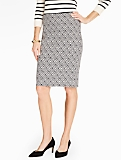 Rope Basketweave Jacquard Skirt