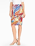Pencil Skirt - Paisley Swirls