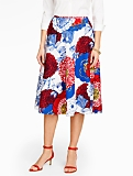 Poppies-Print Circle Skirt