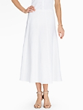 Madison Linen Maxi Skirt-White