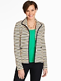 Zigzag-Stripes Textured Knit Jacket