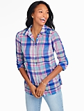 Print Cotton Shirt - Fireworks Plaid