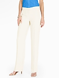 Refined Crepe Wide Leg Pant - Ivory