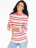 Stripe Basketweave Sweater