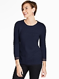 Lace Stripe Milano Sweater