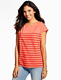 Shoulder-Button Tee-Stripes