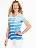 Marseille Stripes Octopus Tee