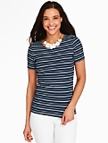 Platinum Jersey Tee - Beach Plum Stripes
