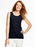 Lace-Trimmed Scoopneck Tank