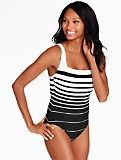 Stripe Square-Neck Miraclesuit�