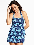 Sharon Halter-Tie Tankini Top - Fancy Fish