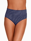 High-Waist Swim Bottoms - Pin Dots