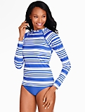 Rash Guard Swim Top - Tropical Stripes