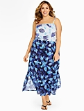 Womans Colorblocked Sealife Maxi Dress