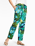 Easy Slim-Leg Pants - Rainforest Botanical