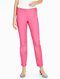 Talbots Hampshire Ankle Pant-Diamond Piqué