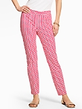 Talbots Chatham Ankle Pant - Curvy/Scallop Print