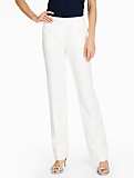 Talbots Windsor Pant - Madison Heavy Linen/White