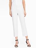 Madison Linen Crop - White