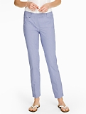 Talbots Hampshire Ankle Pant - Double Weave Gingham Checks