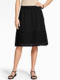 Lace-Trimmed Full Skirt