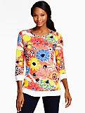Block Party Floral Pullover