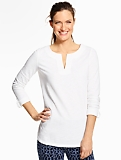 Roll-Cuff Tunic Top
