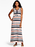 Tie-Front Stripe Maxi Dress