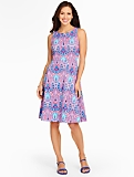 Edie Fit & Flare Dress - Mykonos Paisley