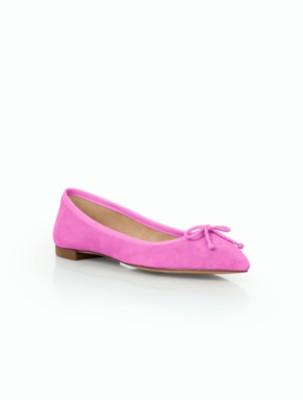 Retro Vintage Flats and Low Heel Shoes Talbots Womens Mira Ballet Flats Suede $89.99 AT vintagedancer.com