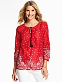 Dotted Paisley Popover