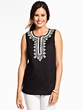 Sparkle-Embroidered Top