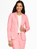 Luxe Cotton Double-Button Blazer