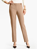 Talbots Hampshire Ankle Pant  - Double Weave/Muted Acorn & Talbots Black