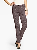 Talbots Hampshire Ankle Pant - Lynx-Print Double-Weave
