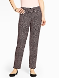 Talbots Hampshire Ankle Pant Curvy - Double Weave/Lynx-Print