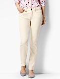 The Flawless Five-Pocket Slim Ankle-Curvy/Vanilla Wash