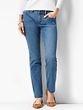 The Flawless Five-Pocket Ankle - Curvy/Lagoon Wash