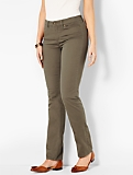 The Flawless Five-Pocket Straight-Leg - Curvy/Olive Moss