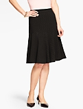 Flounced Skirt-Pindot
